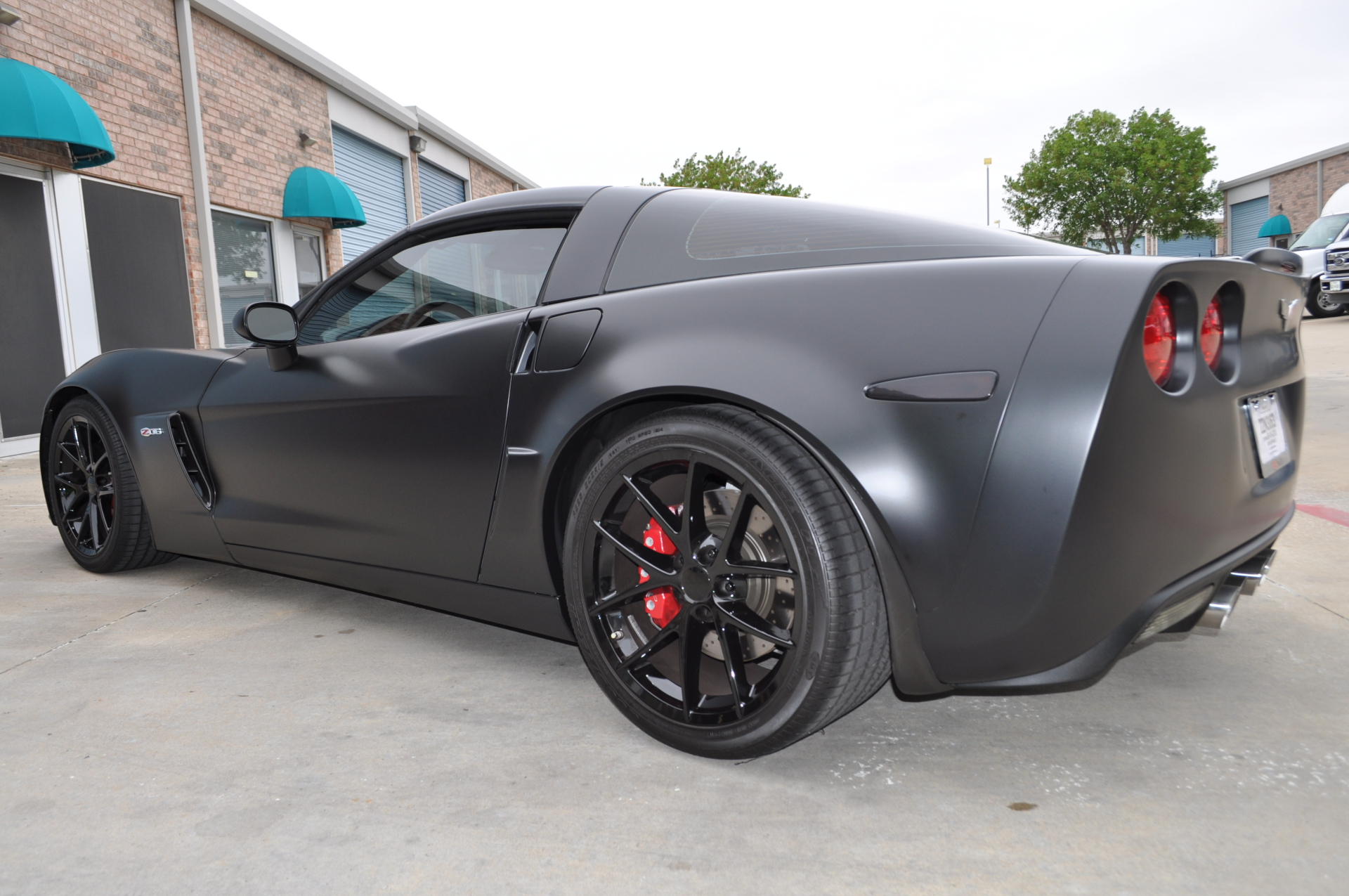 Satin Black Corvette wrap, satin black vehicle wrap, vehicle wraps dallas texas, vehicle wraps plano, vette wraps,
