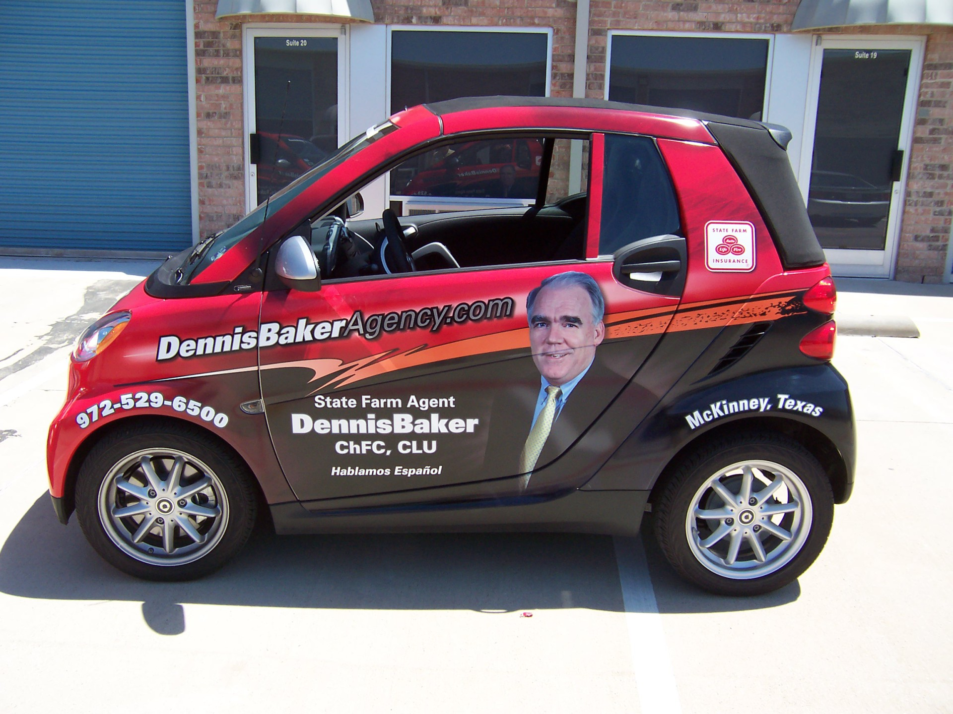 State Farm Agent Dennis Baker, State Farm Vehicle Wraps, vehicle wraps dallas tx