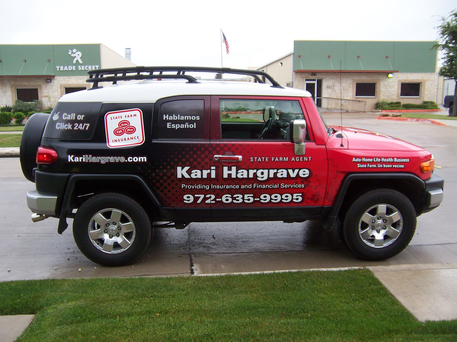 State Farm Agent Kari Hargrave, State Farm Vehicle Wraps, vehicle wraps dallas tx