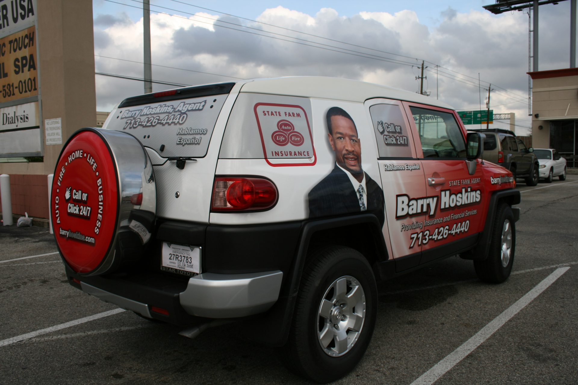 State Farm Agent Barry Hoskins, State Farm Vehicle Wraps, vehicle wraps dallas tx