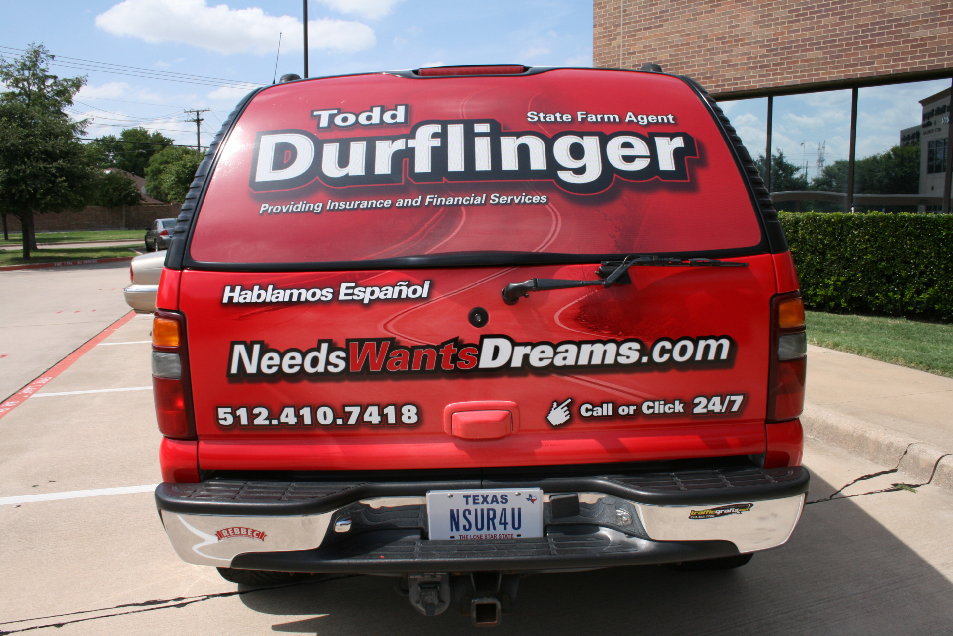 State Farm Agent Todd Durflinger, State Farm Vehicle Wraps, vehicle wraps dallas tx