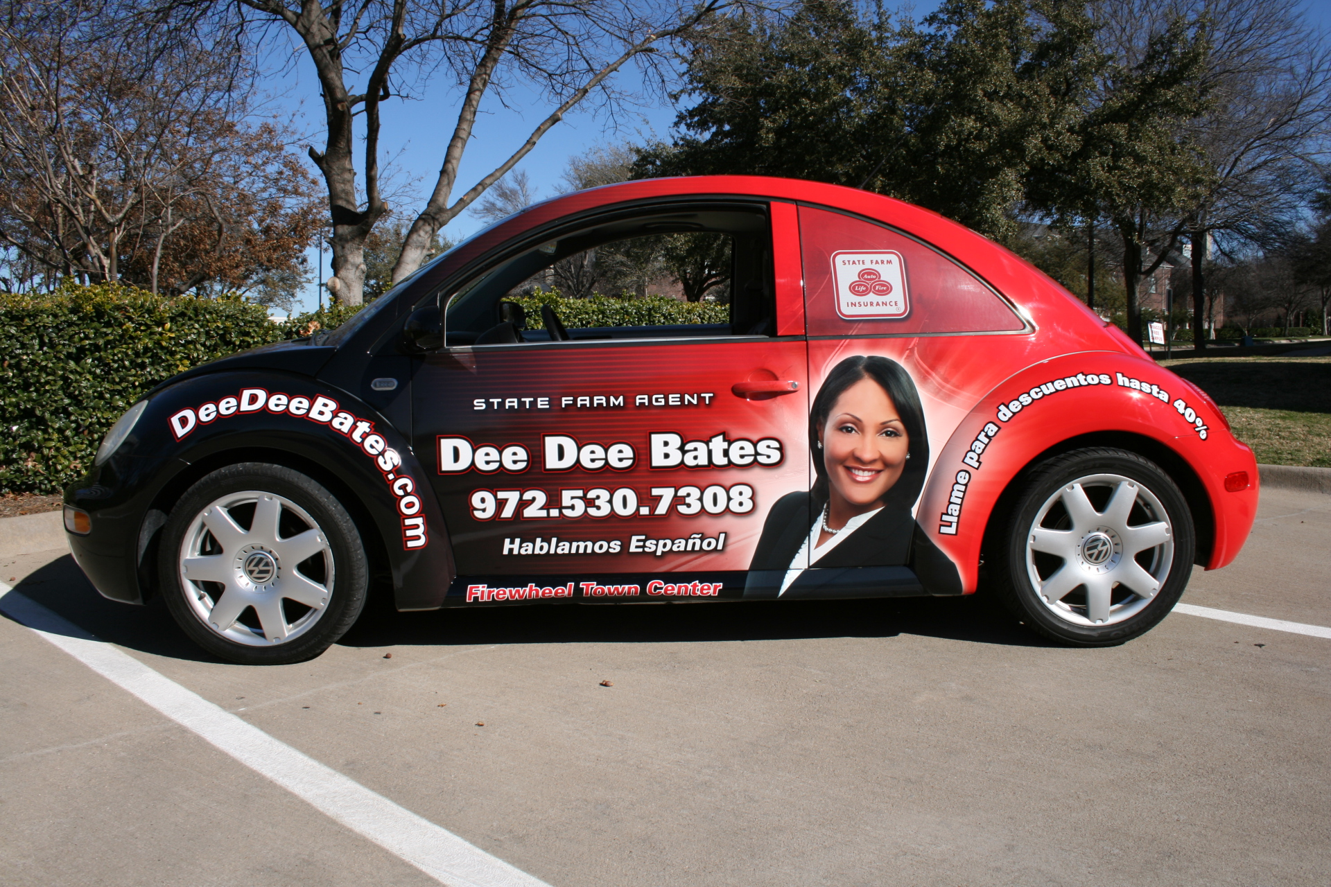 State Farm Agent Dee Dee Bates, State Farm Vehicle Wraps, vehicle wraps dallas tx