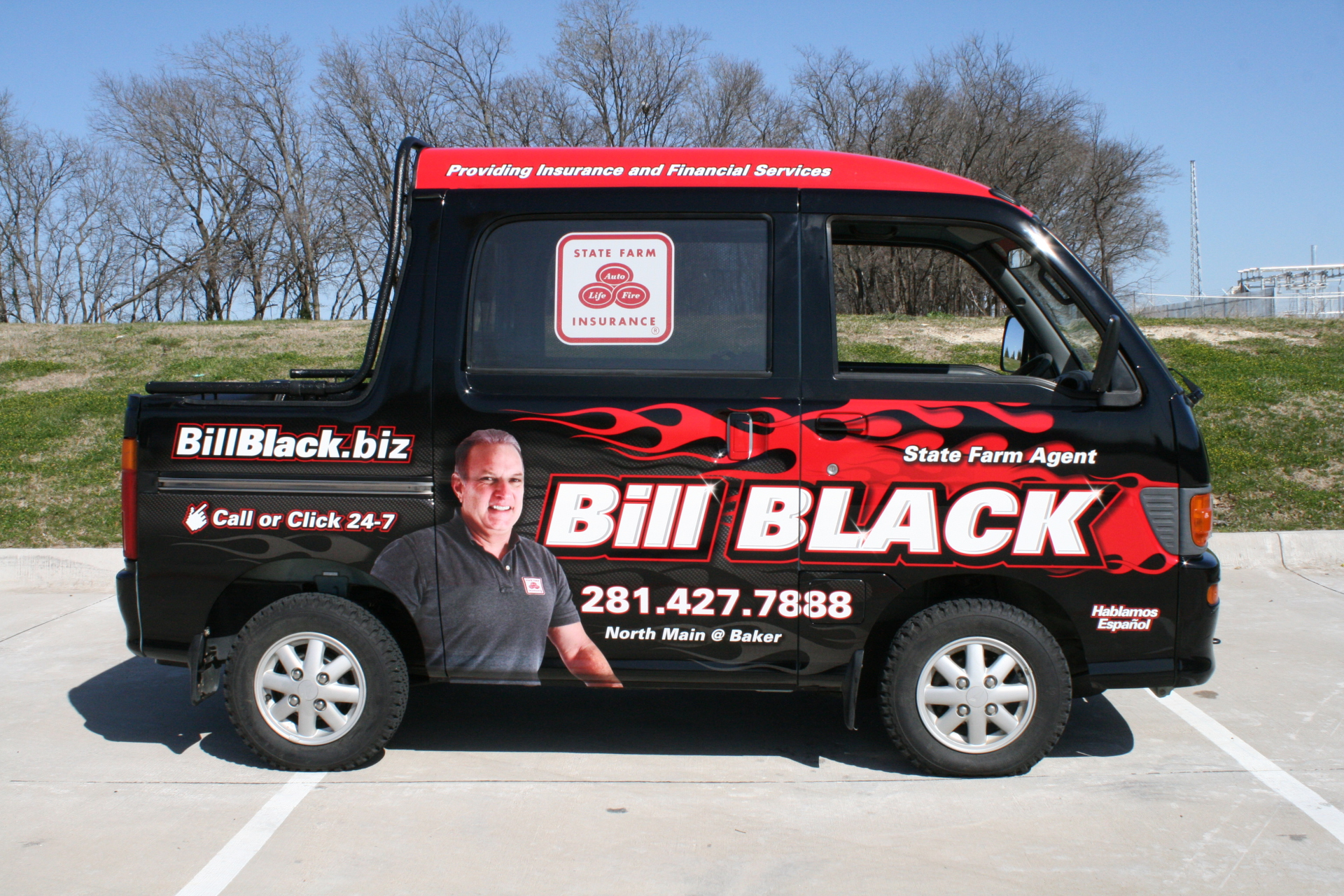 State Farm Agent Bill Black, State Farm Vehicle Wraps, vehicle wraps dallas tx