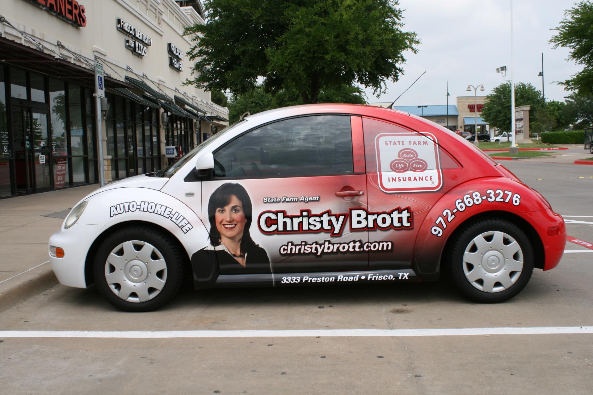 State Farm Agent Christy Brott, State Farm Vehicle Wraps, vehicle wraps dallas tx