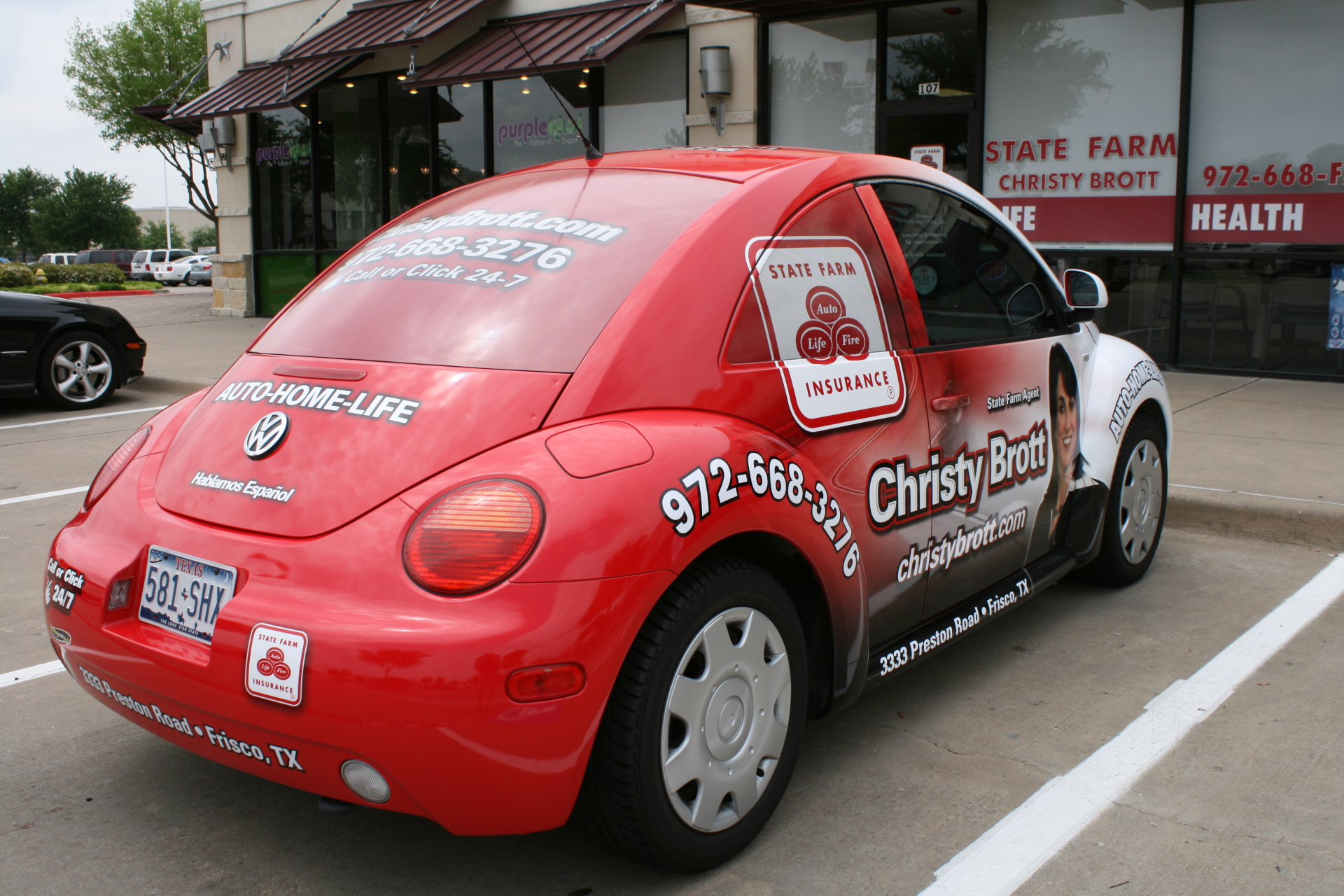 State Farm Agent Christy Brott, State Farm Vehicle Wraps, vehicle wraps dallas tx