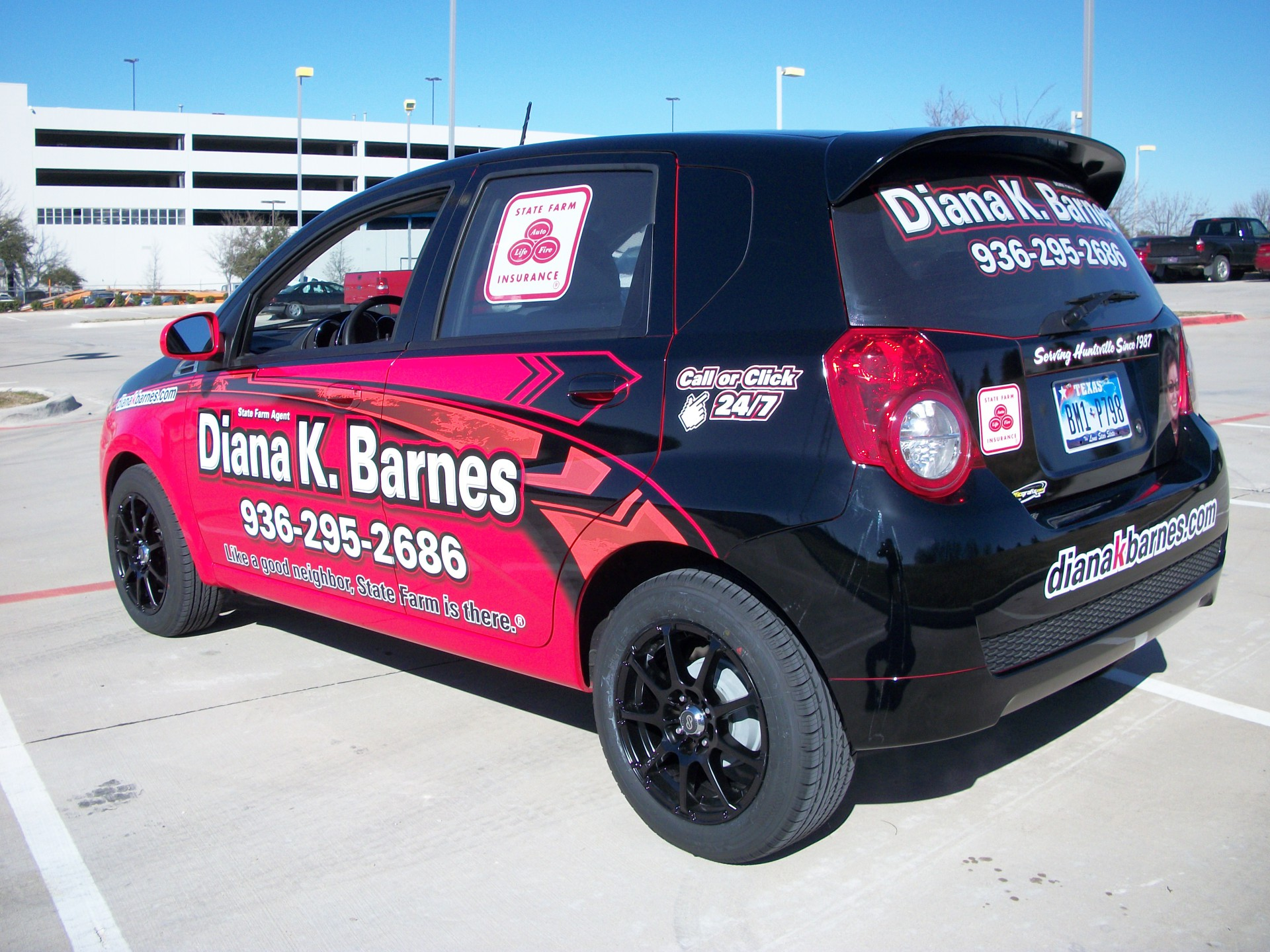 State Farm Agent Diana K. Barnes, State Farm Vehicle Wraps, vehicle wraps dallas tx