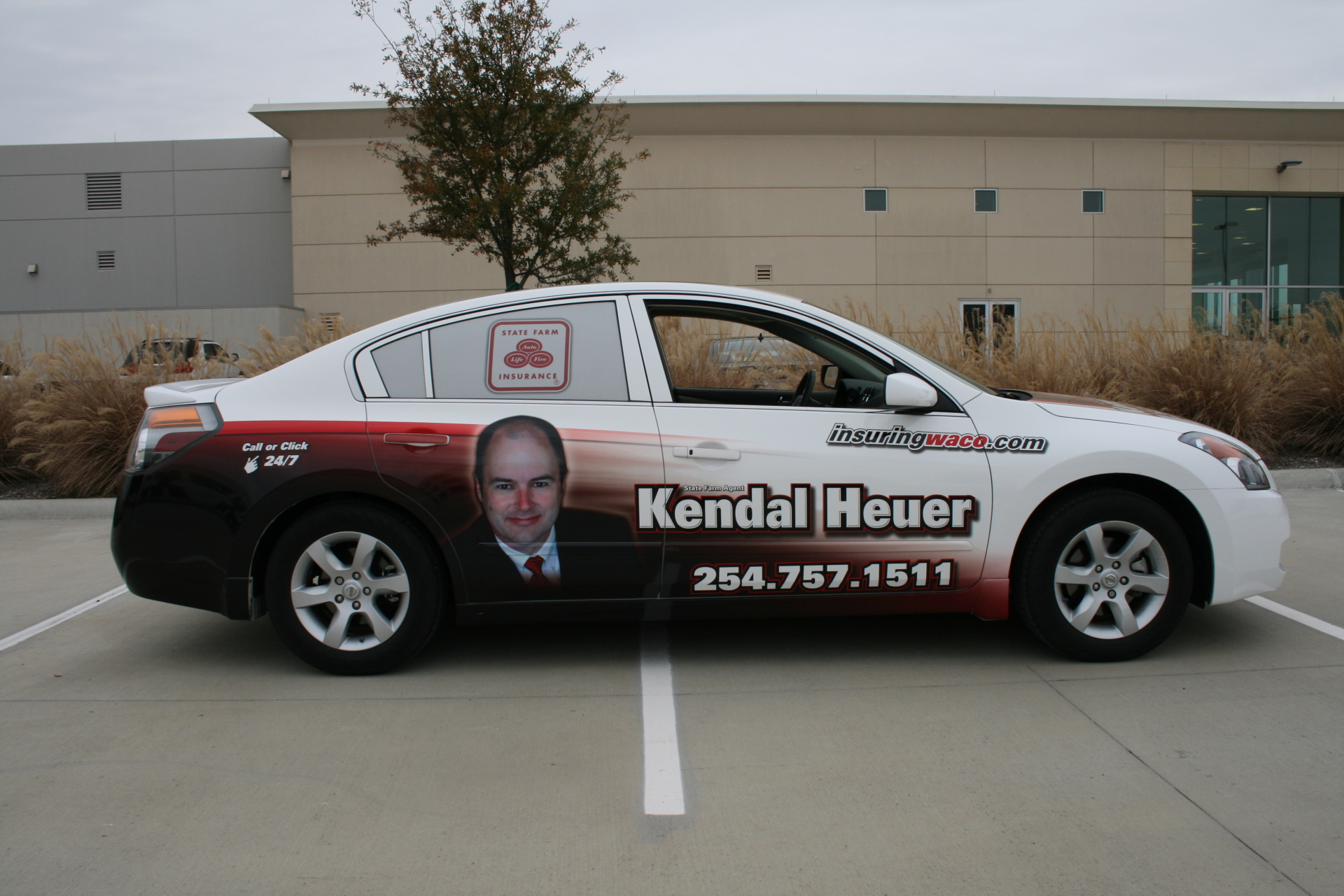 State Farm agent Kendal Heuer, vehicle wraps dallas tx, vehicle wraps waco, State Farm Denton, State Farm Argyle