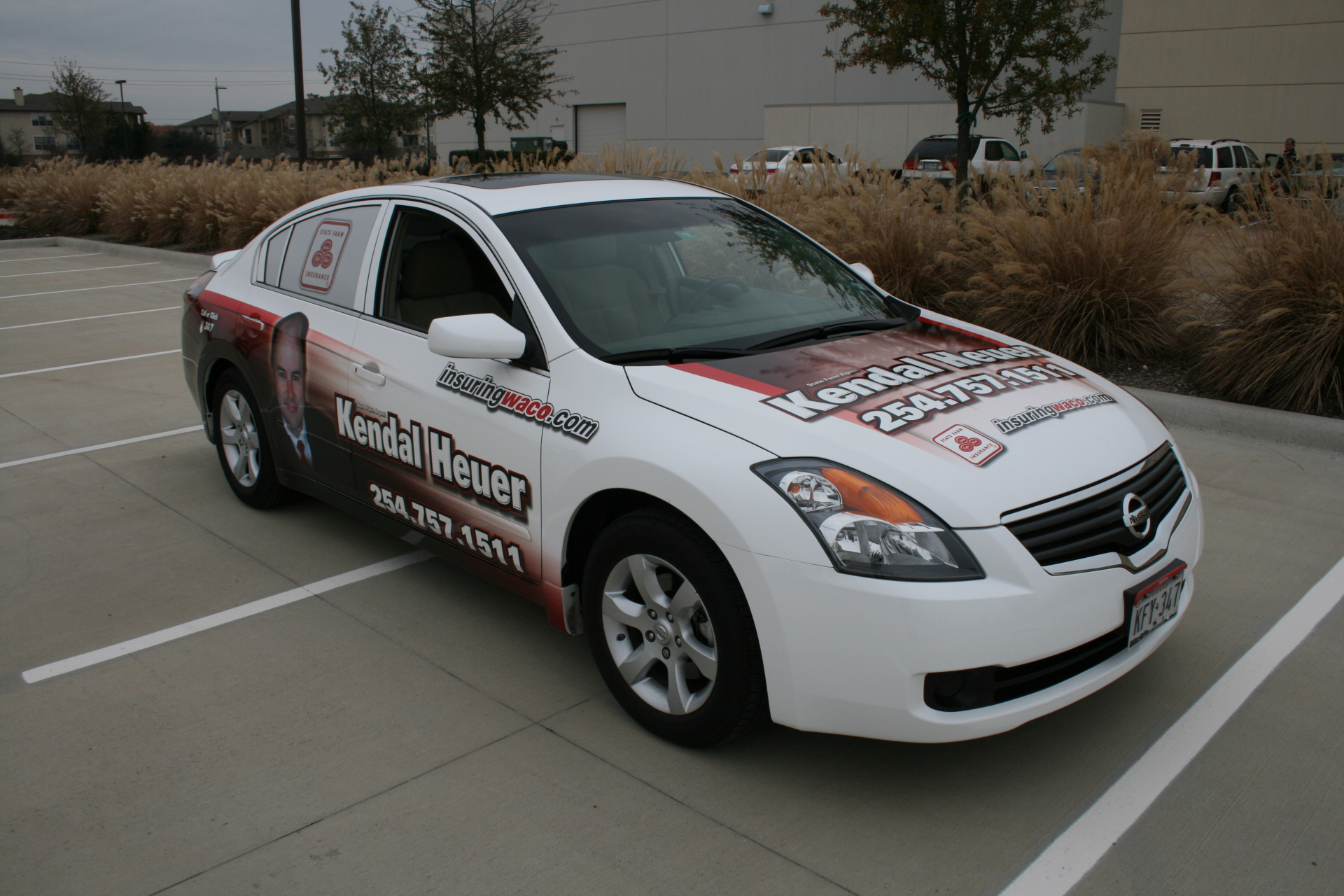 State Farm agent Kendal Heuer, vehicle wraps dallas tx, vehicle wraps waco