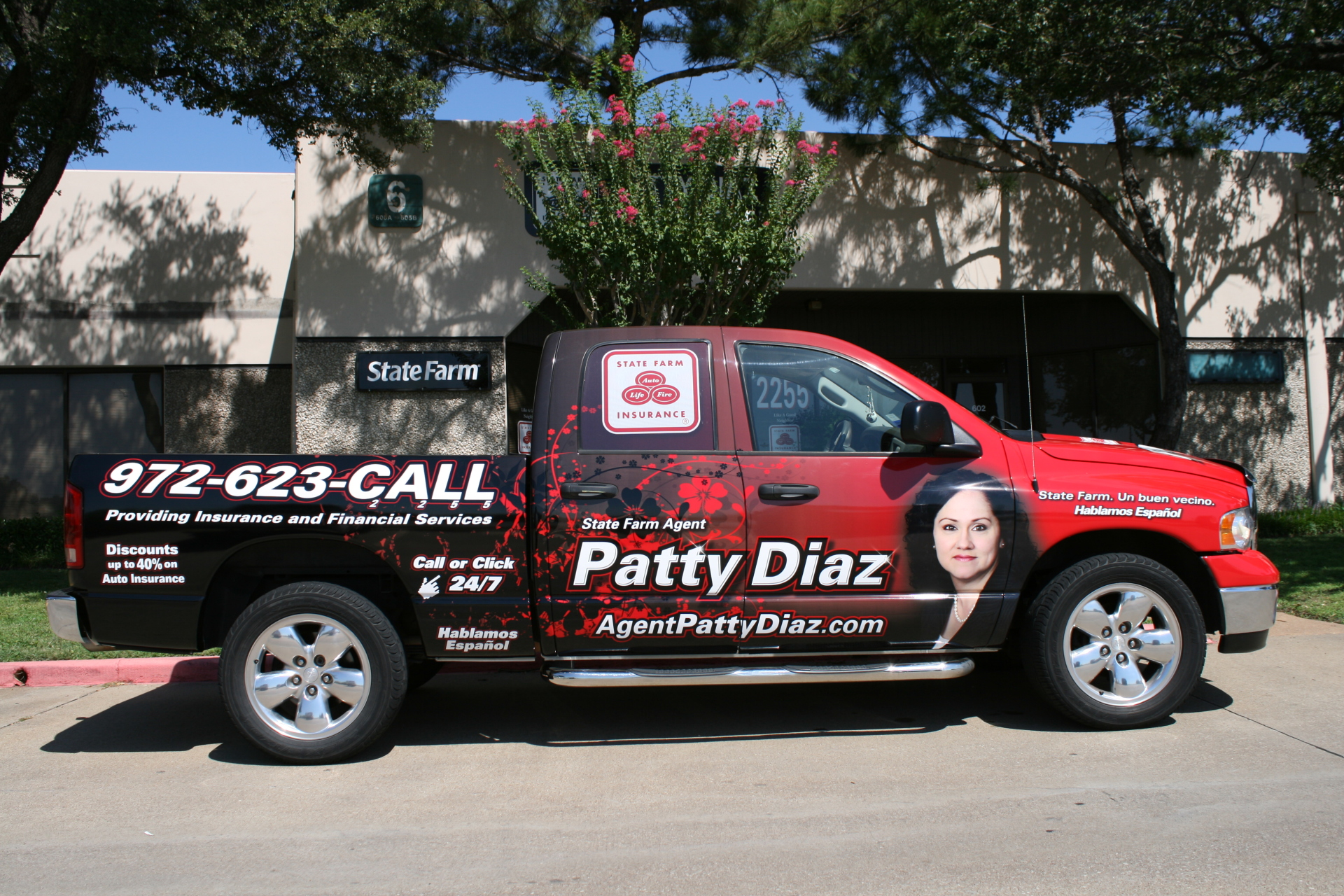 State Farm Agent Patty Diaz, Vehicle wrap Dallas TX, State Farm Vehicle Wrap