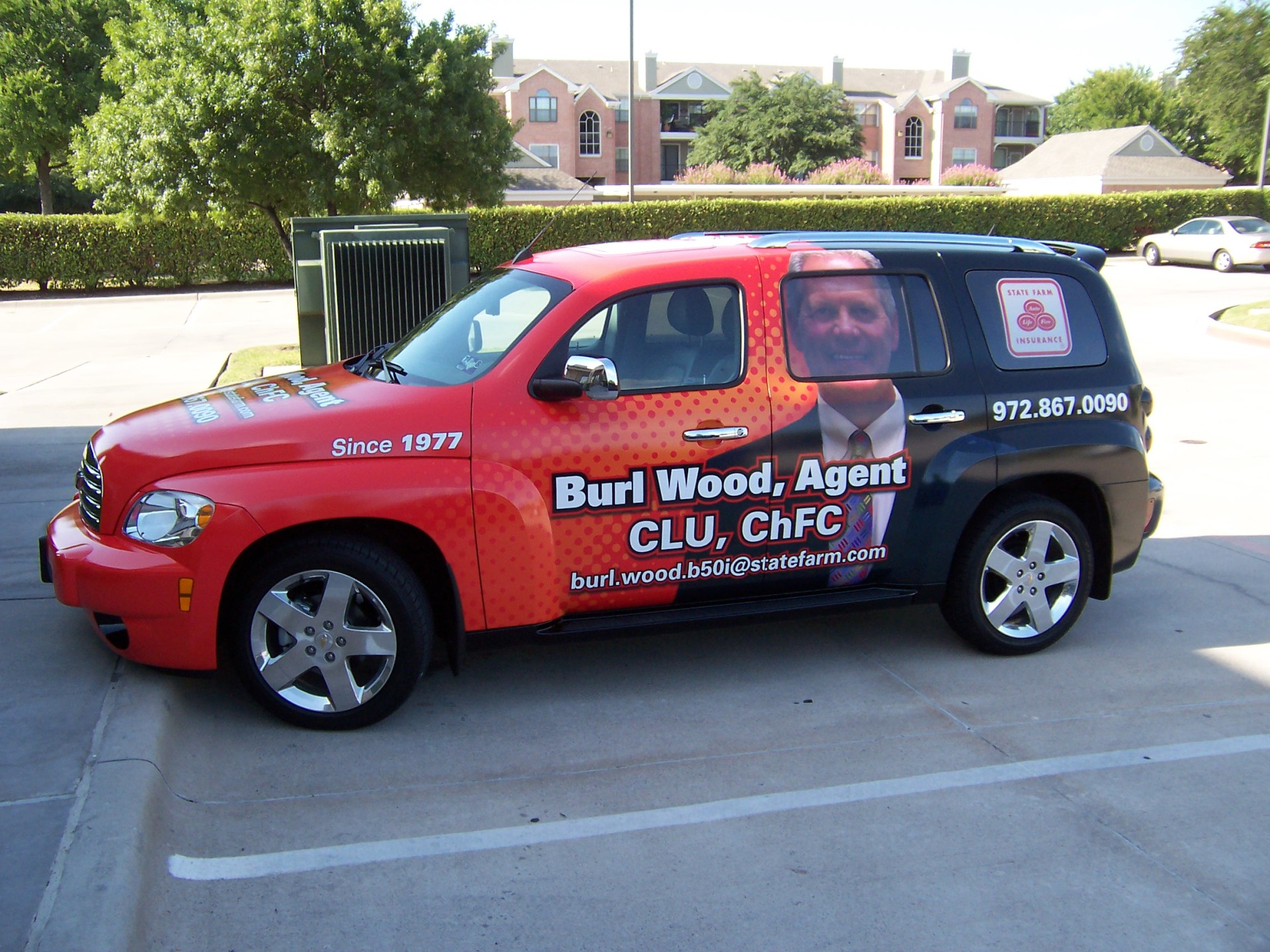 State Farm Agent Burl Wood , State Farm Vehicle Wraps, vehicle wraps dallas tx