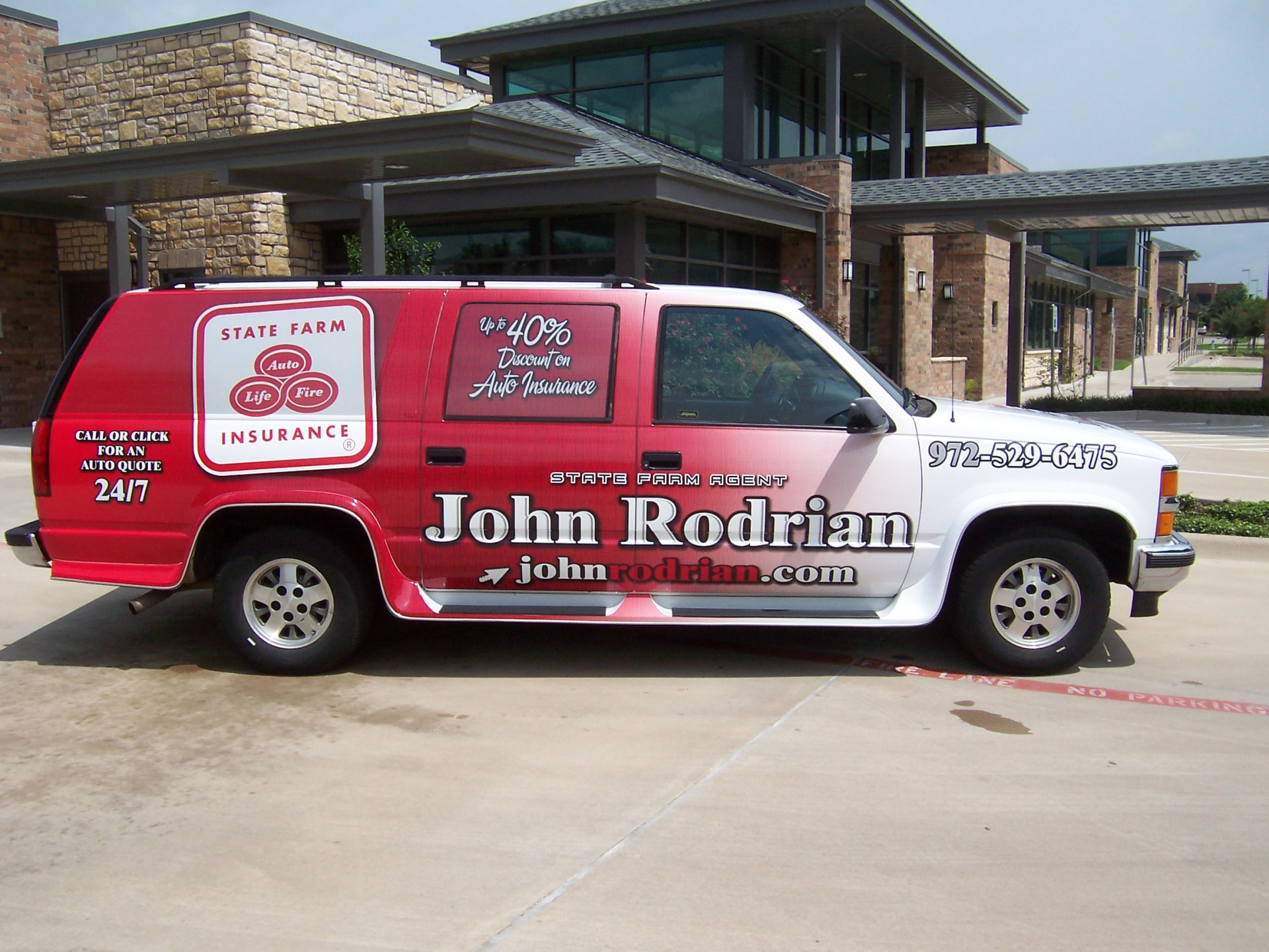 State Farm Agent John Rodrian, State Farm Wraps, Vehicle Wraps Dallas TX