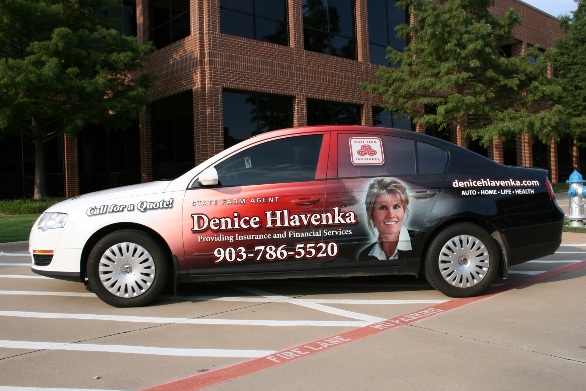 State Farm Agent Denice Hlavenka, State Farm Vehicle Wraps, vehicle wraps dallas tx