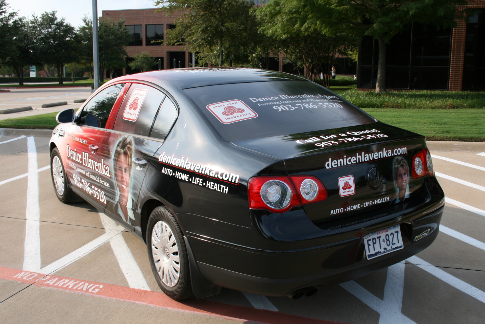 StState Farm Agent Denice Hlavenka, State Farm Vehicle Wraps, vehicle wraps dallas tx