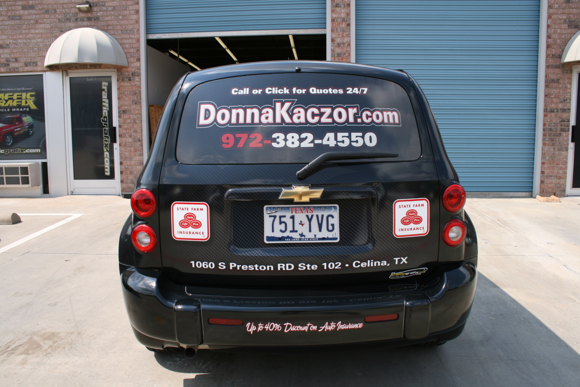 State Farm Agent Donna Kaczor, State Farm Vehicle Wraps, vehicle wraps dallas tx