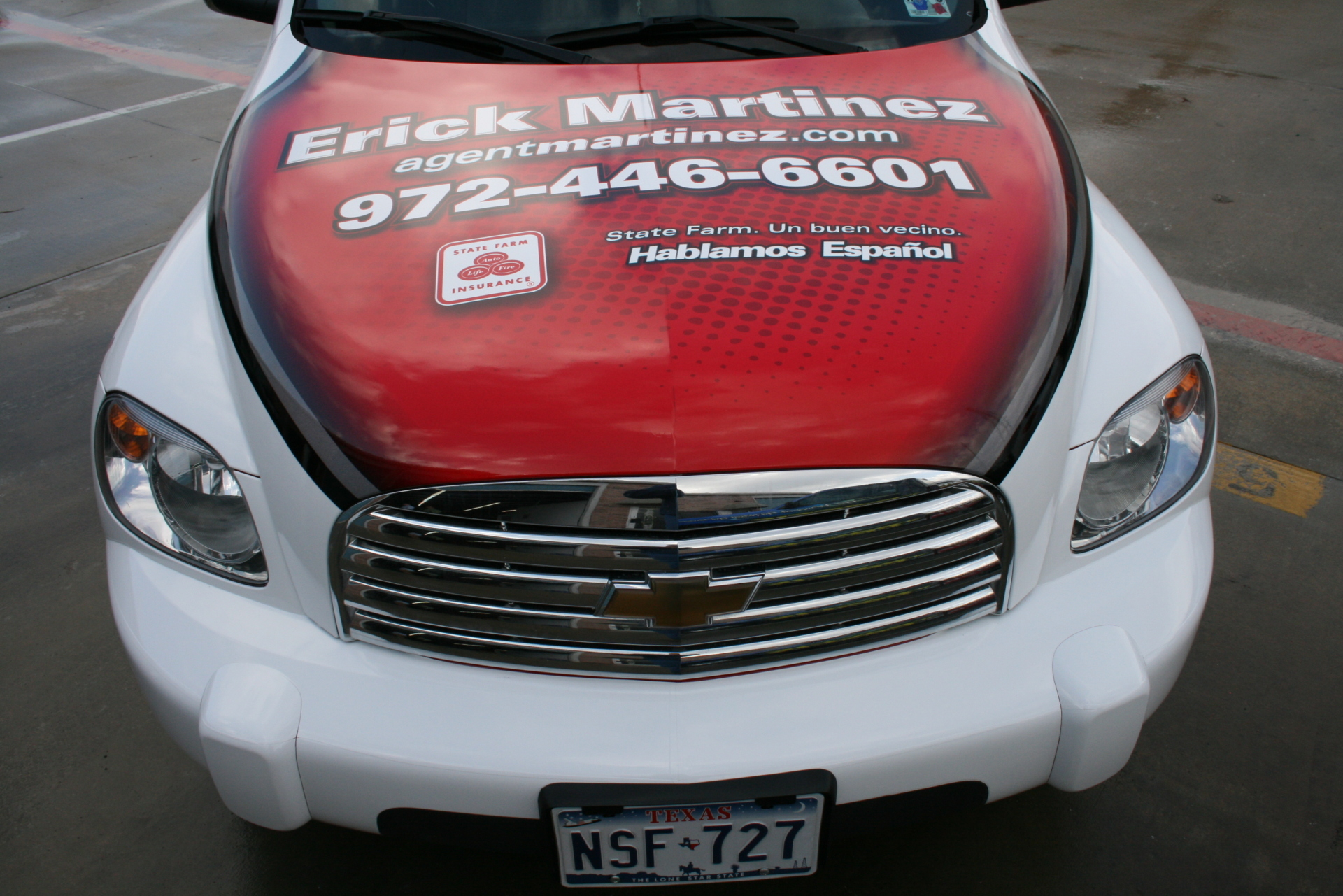 State Farm Agent Erick Martinez, State Farm Vehicle Wraps, vehicle wraps dallas tx