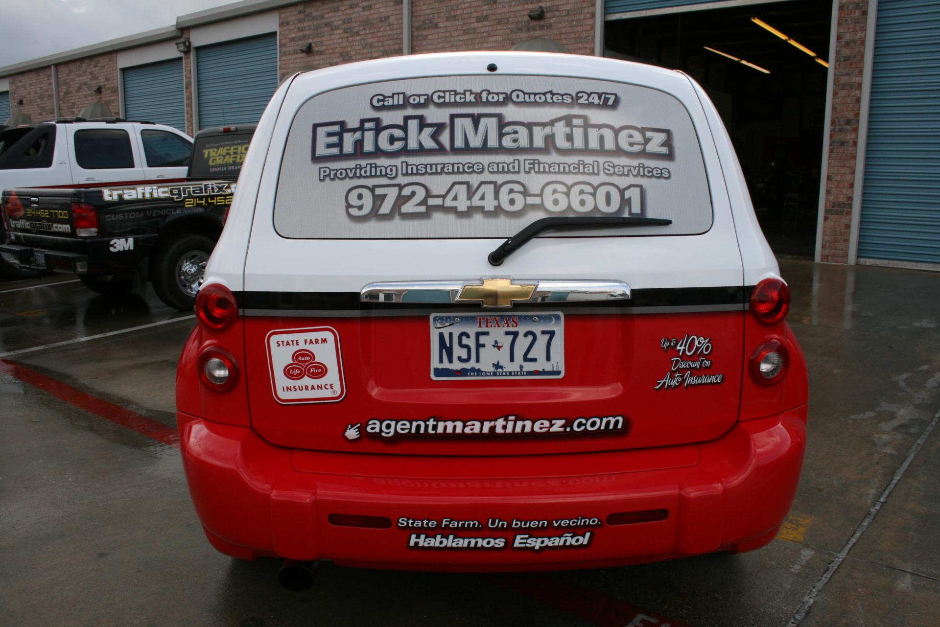 State Farm Agent Erick Martinez, State Farm Vehicle Wraps, vehicle wraps dallas tx