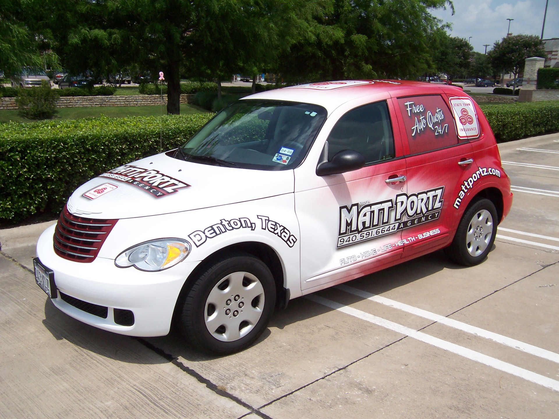 State Farm Agent Matt Portz , State Farm Vehicle Wraps, vehicle wraps dallas tx