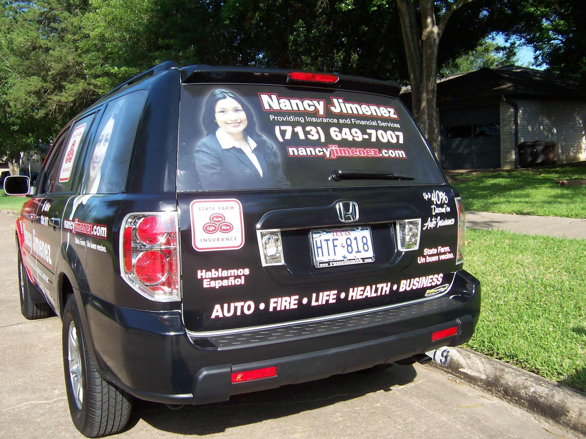 State Farm Agent Nancy Jimenez , State Farm Vehicle Wraps, vehicle wraps dallas tx