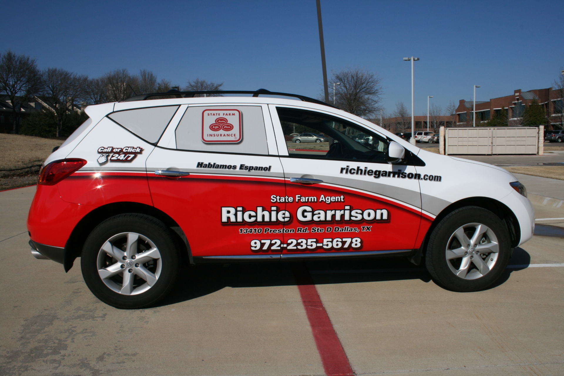 State Farm Agent Richie Garrison , State Farm Vehicle Wraps, vehicle wraps dallas tx