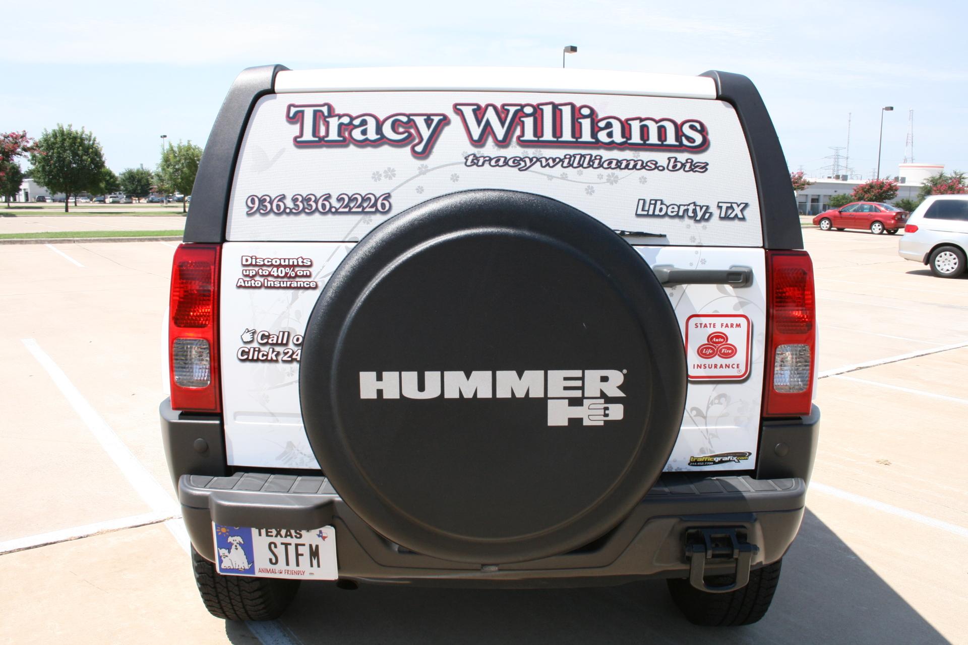 State Farm Agent Tracy Williams, State Farm Vehicle wraps, vehicle wrap dallas tx