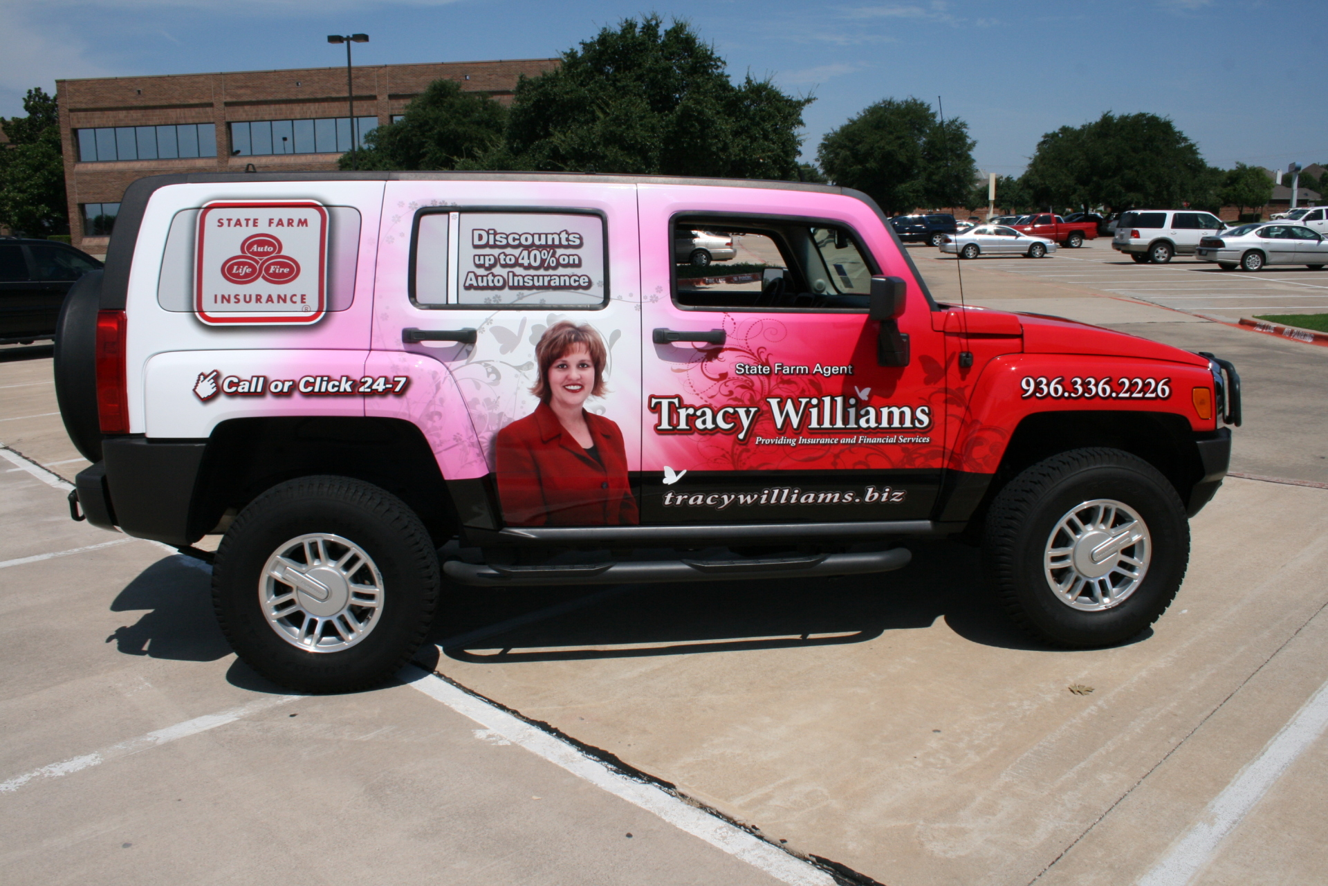 State Farm Agent Tracy Williams, State Farm Vehicle wraps, vehicle wrap dallas tx