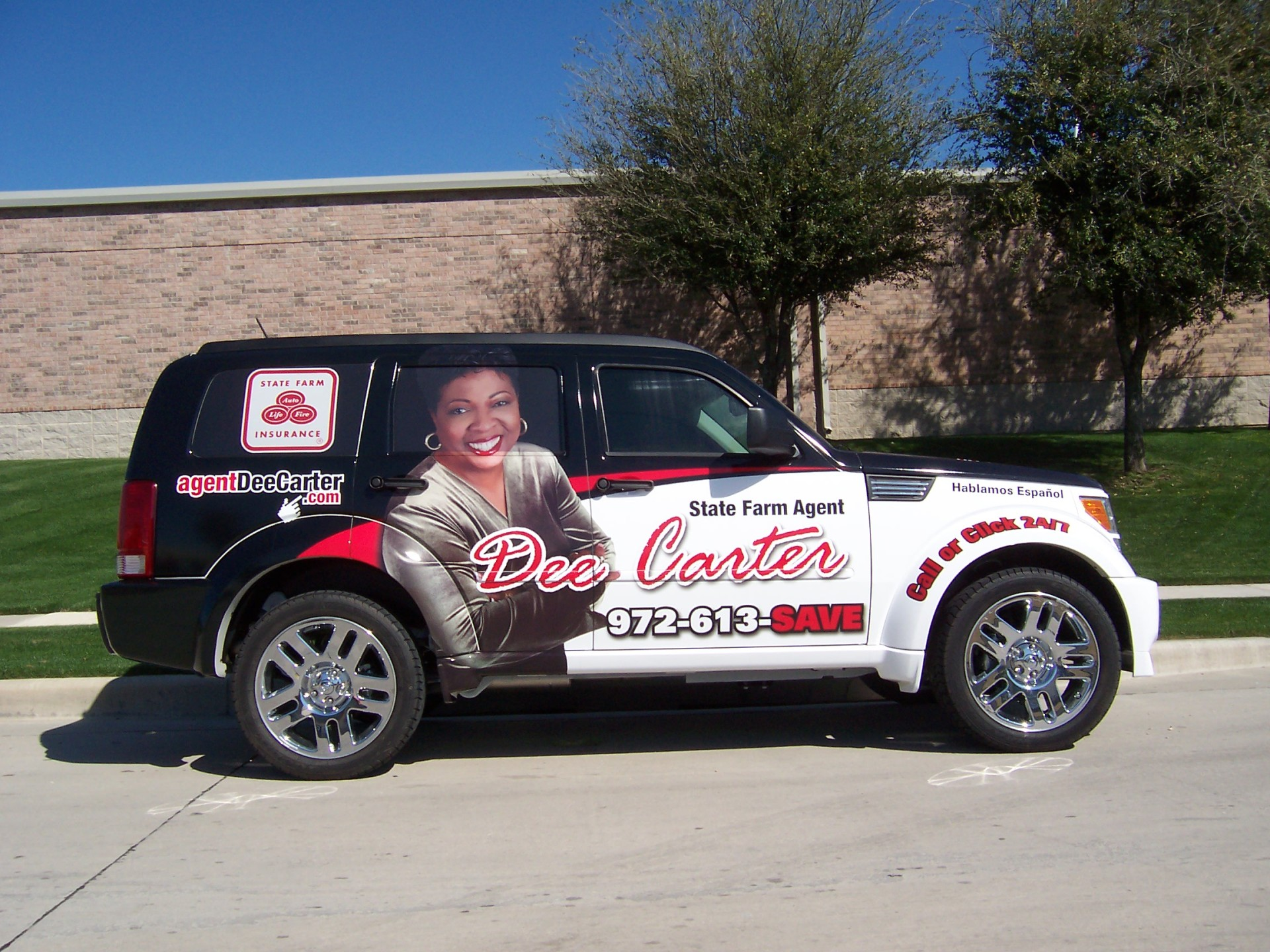 State Farm Agent Dee Carter, State Farm Vehicle wraps, vehicle wrap dallas tx
