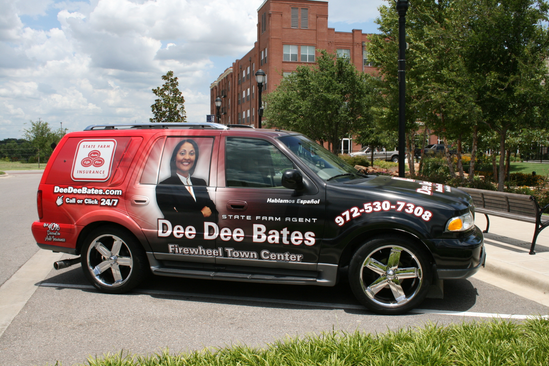 State Farm Agent Dee Dee Bates, State Farm Vehicle wraps, vehicle wrap dallas tx