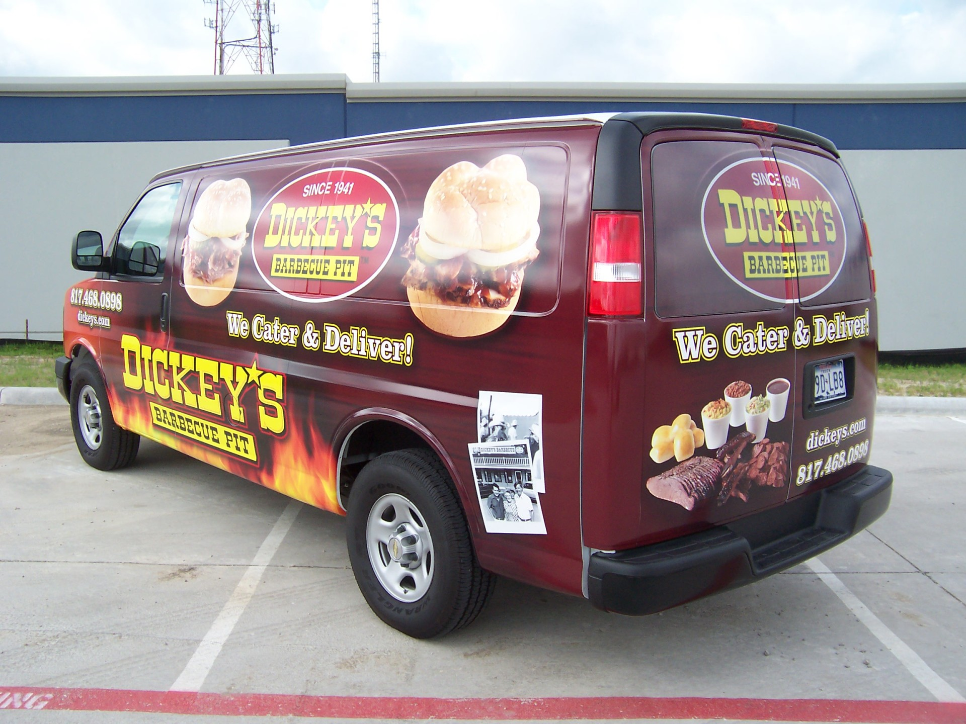 Dickey's Arlington Tx, Dickey's Vehicle wraps, Vehicle wraps Dallas TX