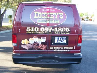 Dickey's Fremont CA,  Dickey's Vehicle Wraps, Vehicle Wraps Dallas TX