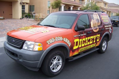 Dickey's Las Vegas NV,  Dickey's Vehicle Wraps, Vehicle Wraps Dallas TX