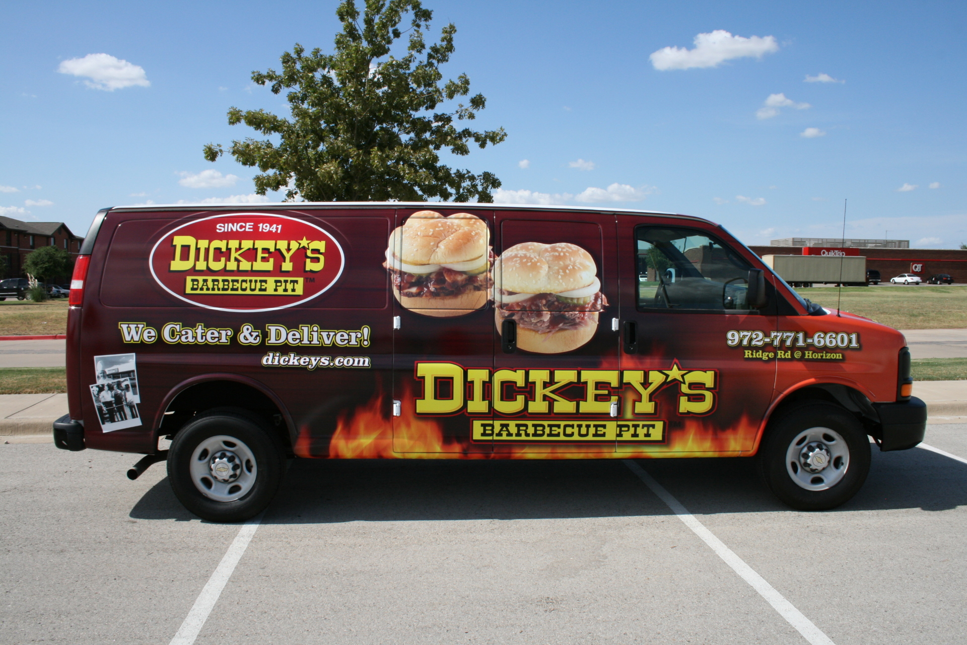 Dickey's Rockwall TX,  Dickey's Vehicle Wraps, Vehicle Wraps Dallas TX