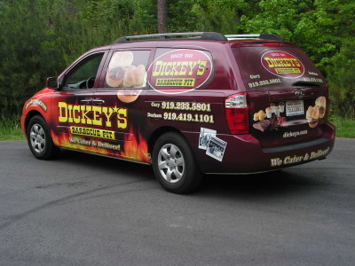 Dickey's Durham NC,  Dickey's Vehicle Wraps, Vehicle Wraps Dallas TX