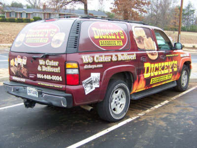 Dickey's Taylor SC,  Dickey's Vehicle Wraps, Vehicle Wraps Dallas TX