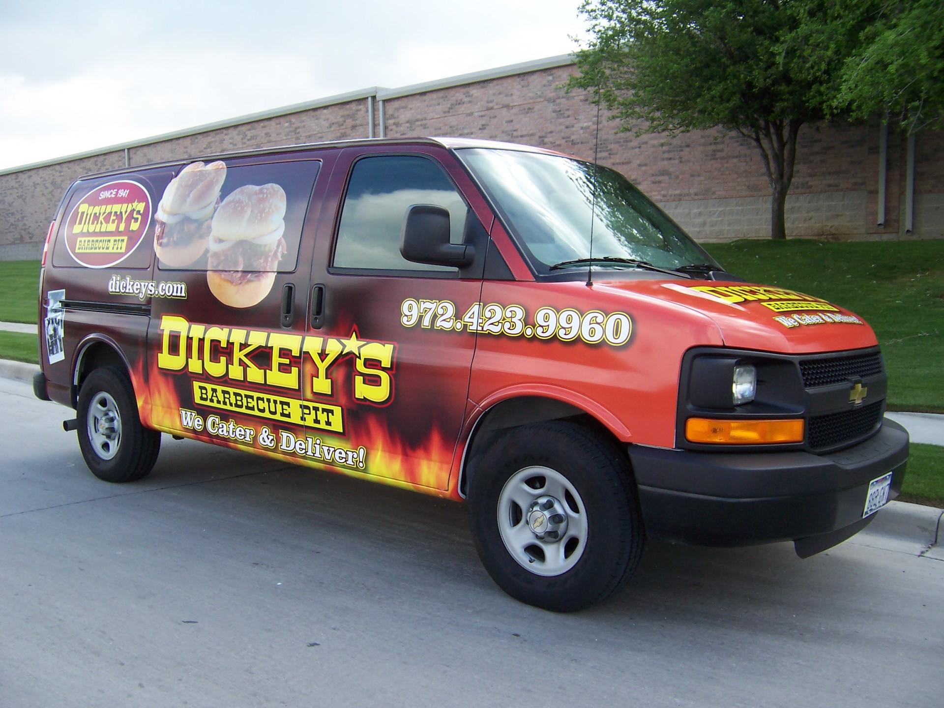 Dickey's Dallas  TX,  Dickey's Vehicle Wraps, Vehicle Wraps Dallas TX