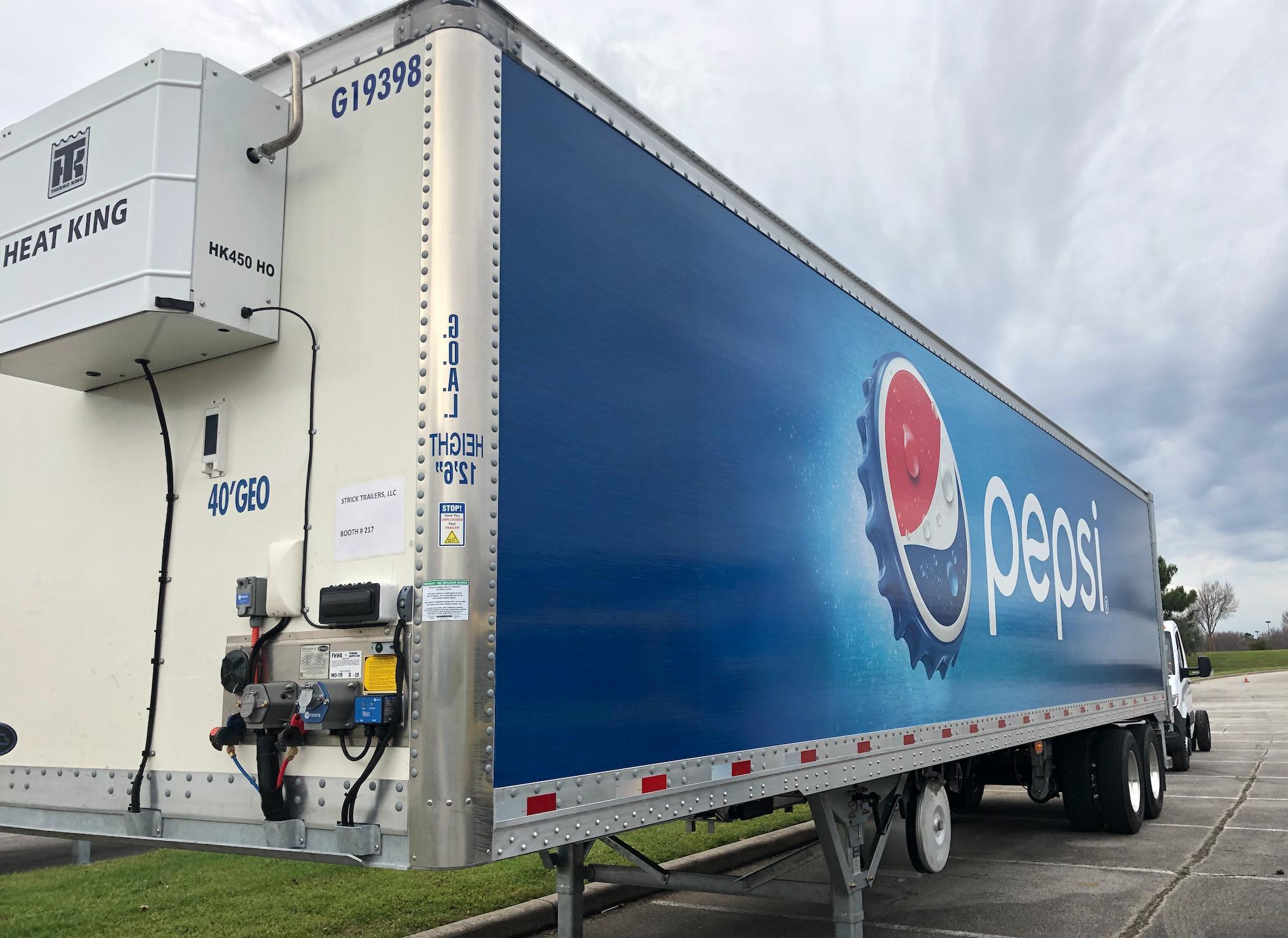 Pepsi Trailer Wrap