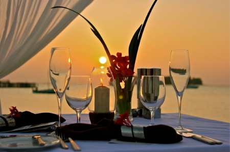 Romantic dinner in Marbella
