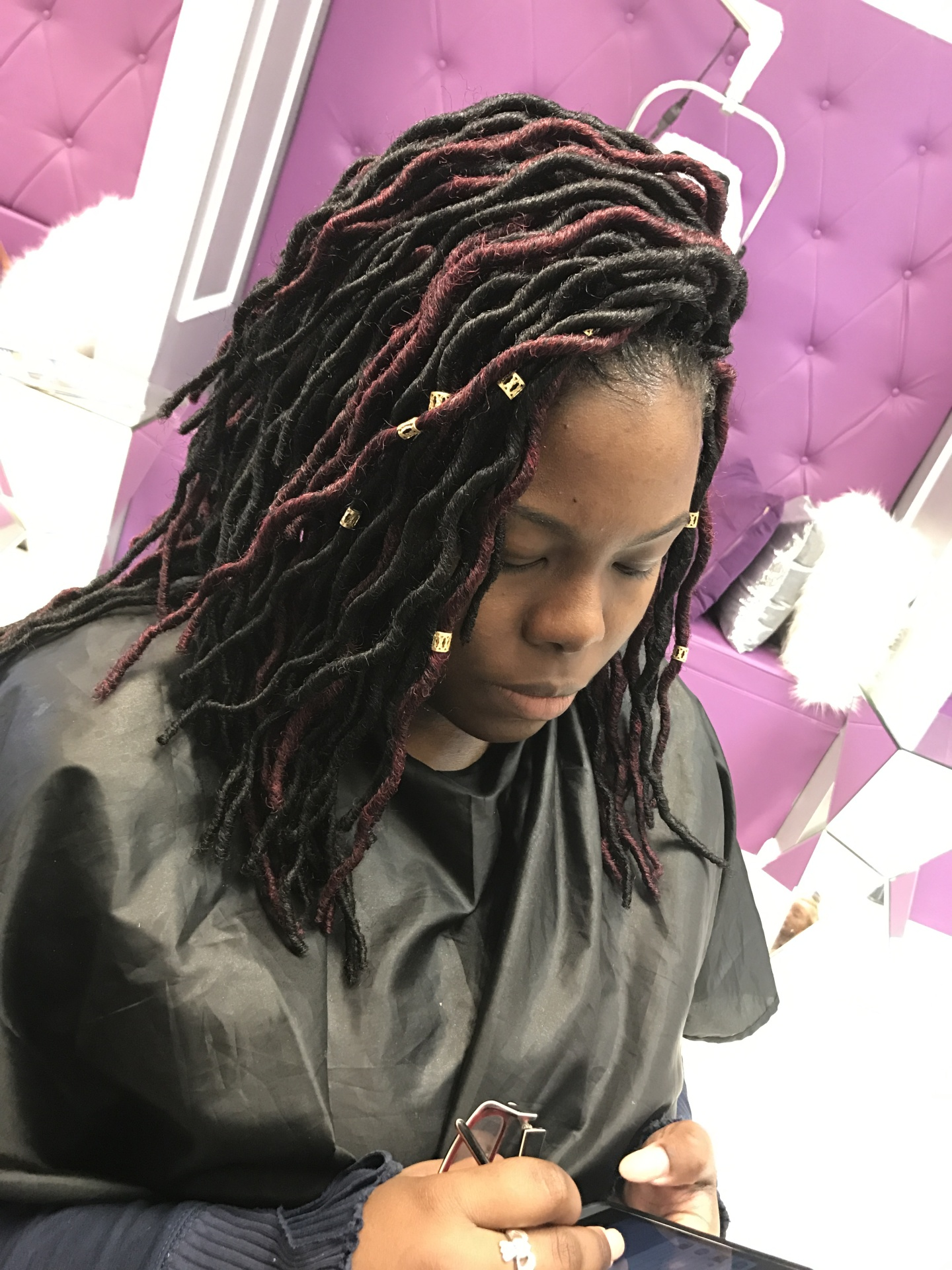 faux locs short