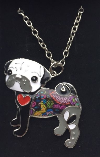 UNUSUAL & QUIRKY LADIES PUG NECKLACE