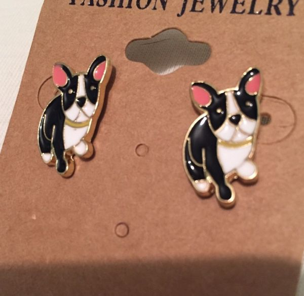 LADIES FRENCH BULLDOG/PUG STUD EARRINGS