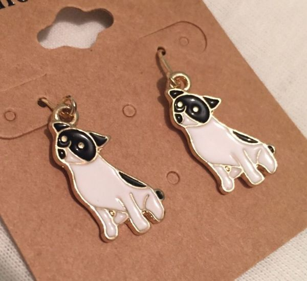 LOVELY DOG DROP EARRINGS
