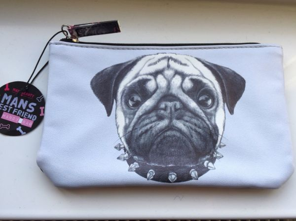 LADIES PUG COSMETIC BAG / PURSE