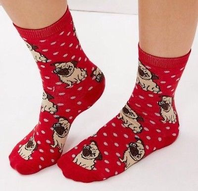 LADIES PUG SOCKS
