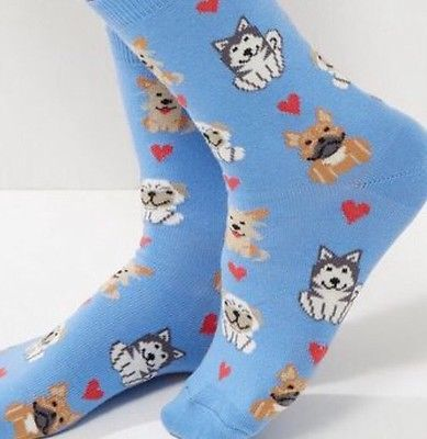LADIES DOG DESIGN SOCKS
