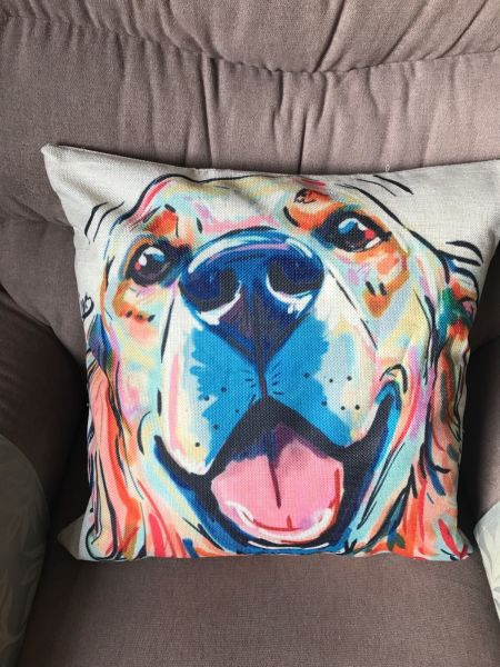Unusual dog cushion cover - Golden Retriever