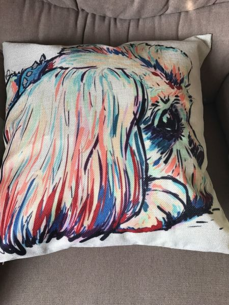 UNUSUAL CUSHION COVER - SHIH TZU - BISSON FRISE