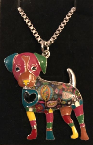 QUIRKY UNUSUAL DOG NECKLACE JACK RUSSELL/LABRADOR?