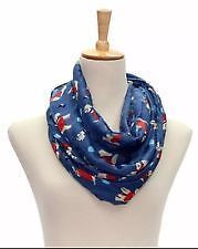 LADIES DOG DESIGN SNOOD / SCARF BLUE