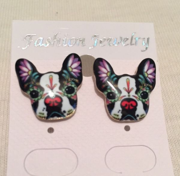 CUTE & UNUSUAL Pug / French Bull Dog  earrings
