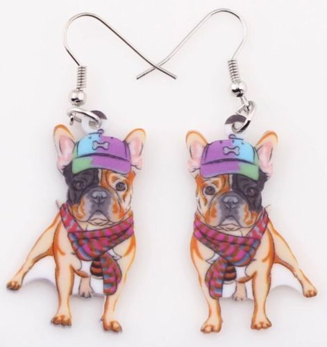 QUIRKY AND CUTE PUG DROP EARRINGS