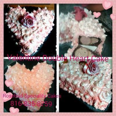 Double heart Cakes